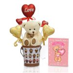 Chocolate Teddy In Gift Basket