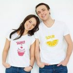 Couple Prints T Shirts Pack of 02