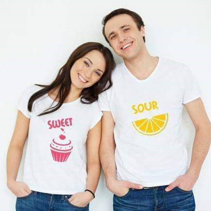 Couple Prints T Shirts Pack of 02 Just Rupees 999
