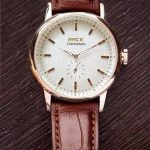 Leather Pur Brown Strip Watch